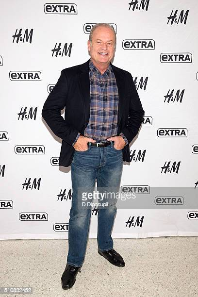 Kelsey Grammer visits 'Extra' at their New York studios at HM in Times Square on February 17 2016 in New York City