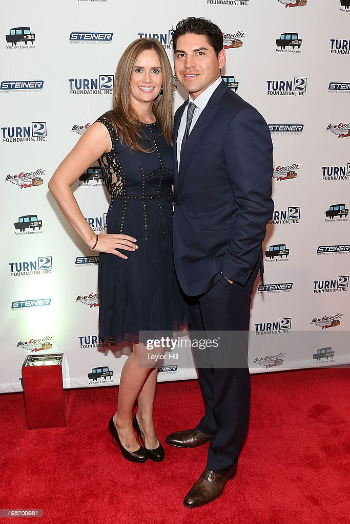 Kelsey Hawkins Ellsbury and New York Yankees center fielder Jacoby Ellsbury attend the Derek Jeter 18th Annual Turn 2 Foundation dinner at Sheraton New York Times Square on June 1, 2014 in New York City.
