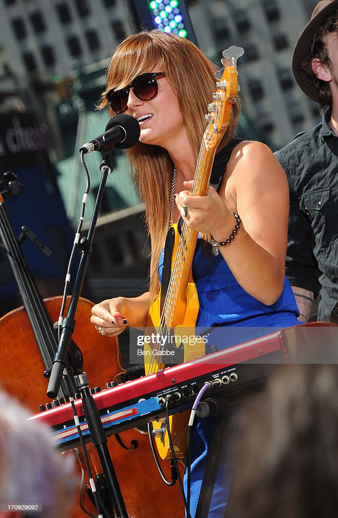 Kelsey Kopecky of Kopecky Family Band performs during the MTV, VH1, CMT & LOGO 2013 O Music Awards on June 20, 2013 in New York City.