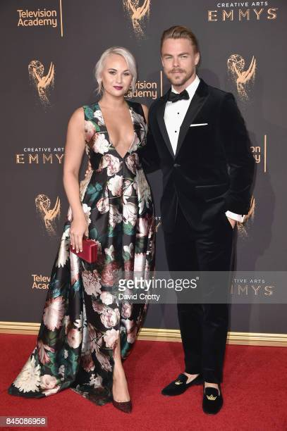 Kelsey McCowan and Derek Hough at the 2017 Creative Arts Emmy Awards Day 1 at Microsoft Theater on September 9 2017 in Los Angeles California