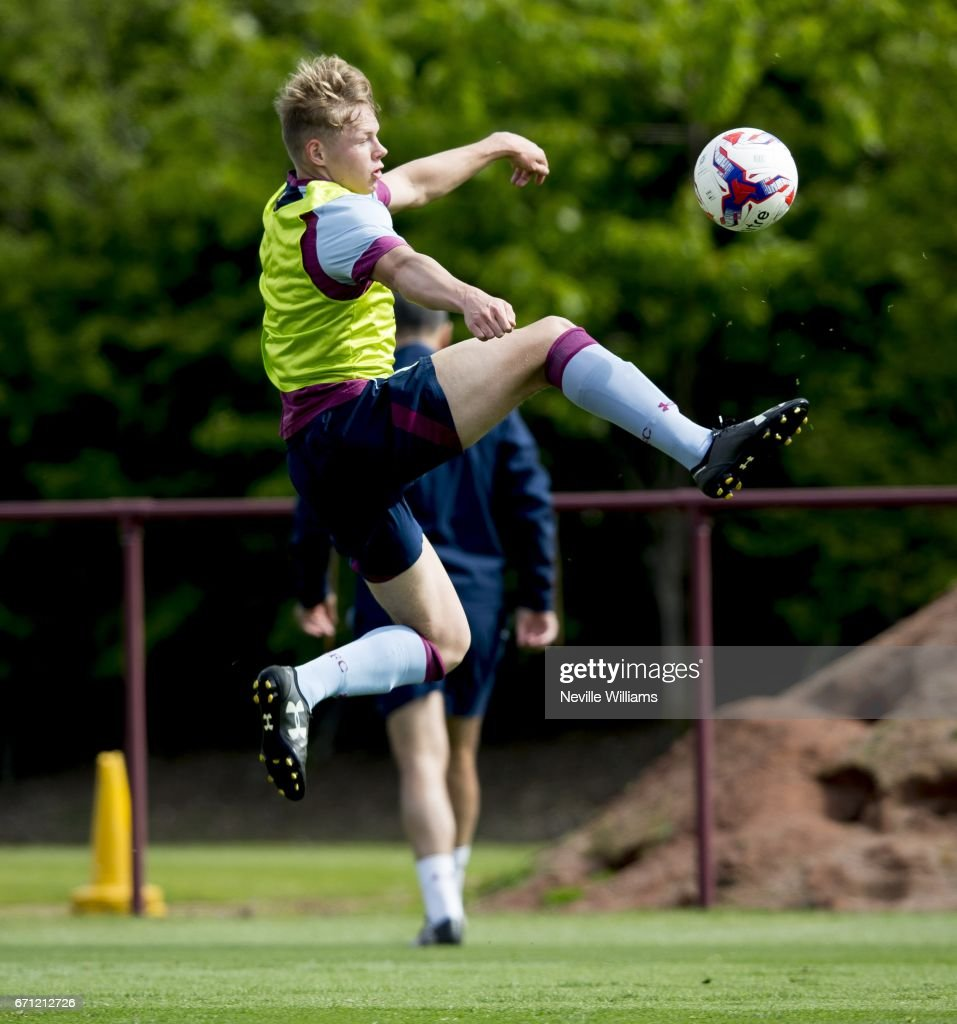 Kelsey Mooney of Aston Villa in action during at training session at the club's training ground at Bodymoor Heath on April 21, 2017 in Birmingham, England.