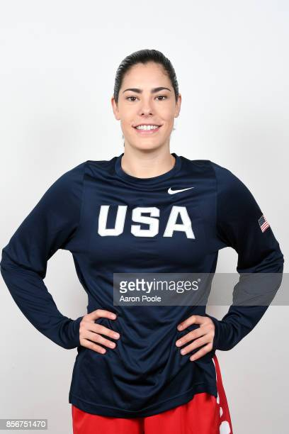 Kelsey Plum of the 2017 USA Women's National Team poses for a portrait during training camp at Westmont College on September 30 2017 in Santa Barbara...