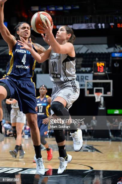 Kelsey Plum of the San Antonio Stars goes up for a lay up against the Indiana Fever on July 20 2017 at the ATT Center in San Antonio Texas NOTE TO...