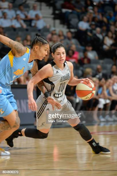 Kelsey Plum of the San Antonio Stars handles the ball against the Chicago Sky on June 30 2017 at the ATT Center in San Antonio Texas NOTE TO USER...