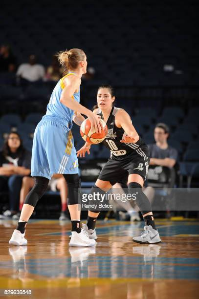 Kelsey Plum of the San Antonio Stars plays defense against the Chicago Sky on August 10 2017 at the Allstate Arena in Rosemont Illinois NOTE TO USER...