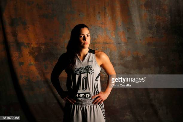 Kelsey Plum of the San Antonio Stars poses for portraits during 2017 WNBA Media Day on May 10 2017 at the ATT Center in San Antonio Texas NOTE TO...