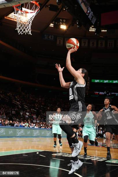 Kelsey Plum of the San Antonio Stars shoots the ball against the New York Liberty on September 1 2017 at Madison Square Garden in New York New York...