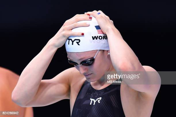Kelsi Worrell during the Budapest 2017 FINA World Championships on July 28 2017 in Budapest Hungary