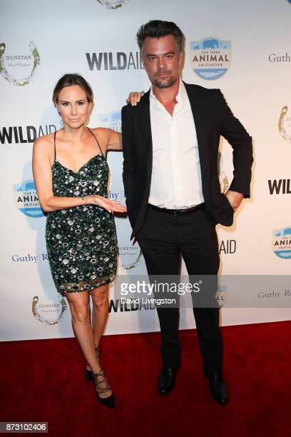 Keltie Knight and Josh Duhamel arrive at the Evening with WildAid at the Beverly Wilshire Four Seasons Hotel on November 11 2017 in Beverly Hills...