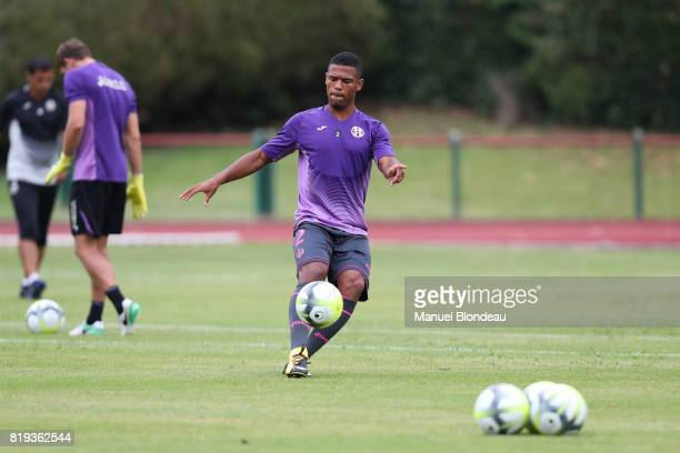Kelvin Amian of Toulouse during the friendly match between Toulouse FC and Deportivo Alaves on July 19 2017 in Saint Jean de Luz France
