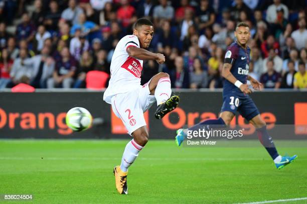 Kelvin Amian of Toulouse during the Ligue 1 match between Paris Saint Germain and Toulouse at Parc des Princes on August 20 2017 in Paris