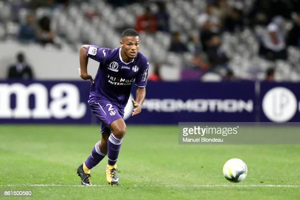 Kelvin Amian of Toulouse during the Ligue 1 match between Toulouse and Amiens SC at Stadium Municipal on October 14 2017 in Toulouse