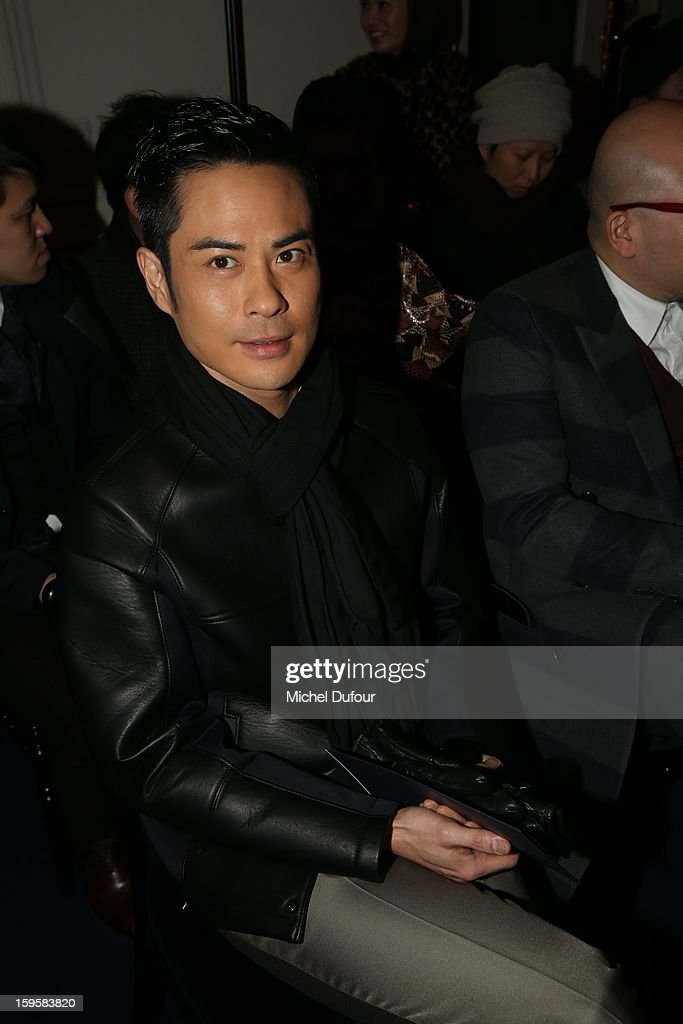 Kelvin Cheng attends the Valentino Men Autumn / Winter 2013 show as part of Paris Fashion Week on January 16, 2013 in Paris, France.