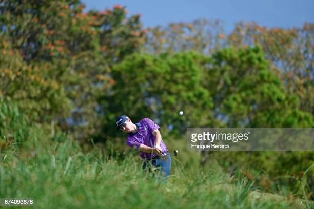 Kelvin Day of England hits from the 10th hole during the third round of the PGA TOUR Latinoamérica Honduras Open presented by Indura Golf Resort at...