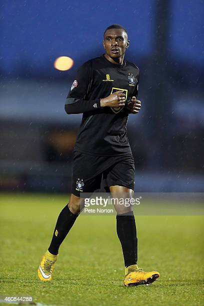 Kelvin Etuhu of Bury in action during the Sky Bet League Two match between Northampton Town and Bury at Sixfields Stadium on December 26 2014 in...