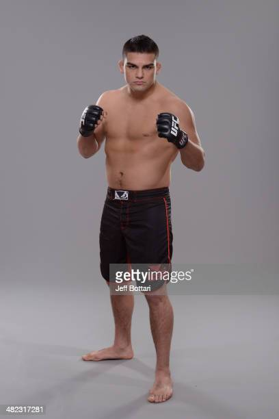 Kelvin Gastelum poses for a portrait during a UFC photo session on March 12 2014 in Dallas Texas