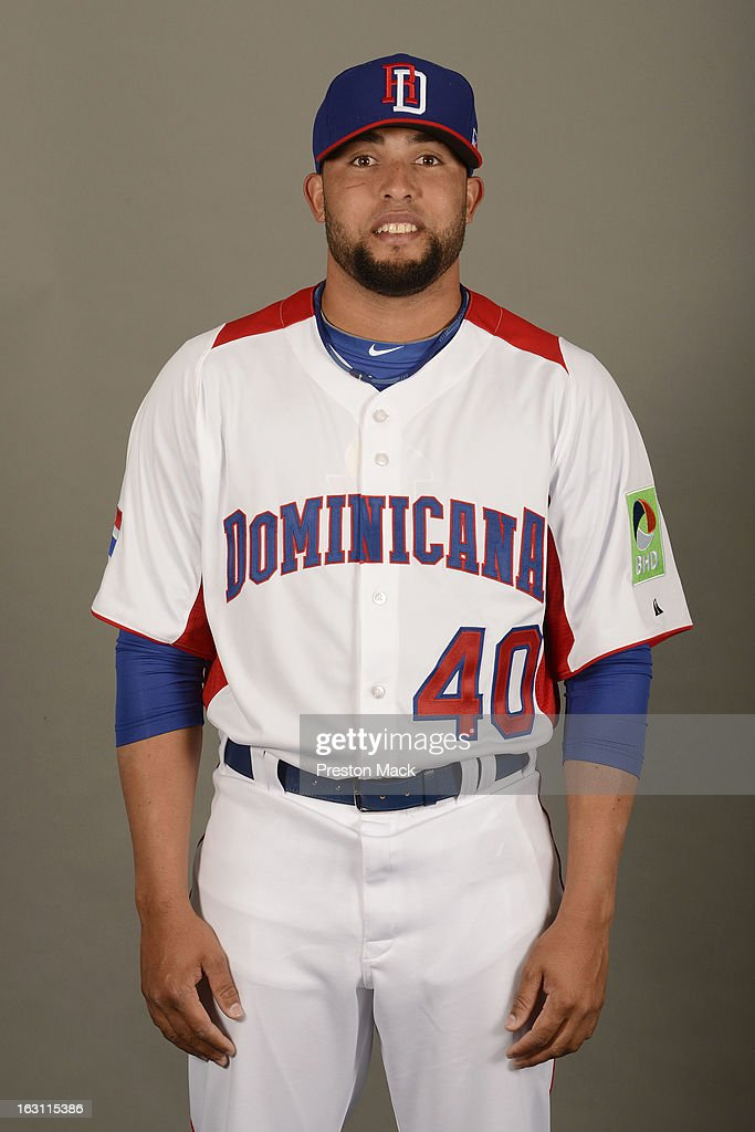 Kelvin Herrera #40 of Team Dominican Republic poses for a headshot for the 2013 World Baseball Classic on March 4, 2013 at George M. Steinbrenner Field in Tampa, Florida.