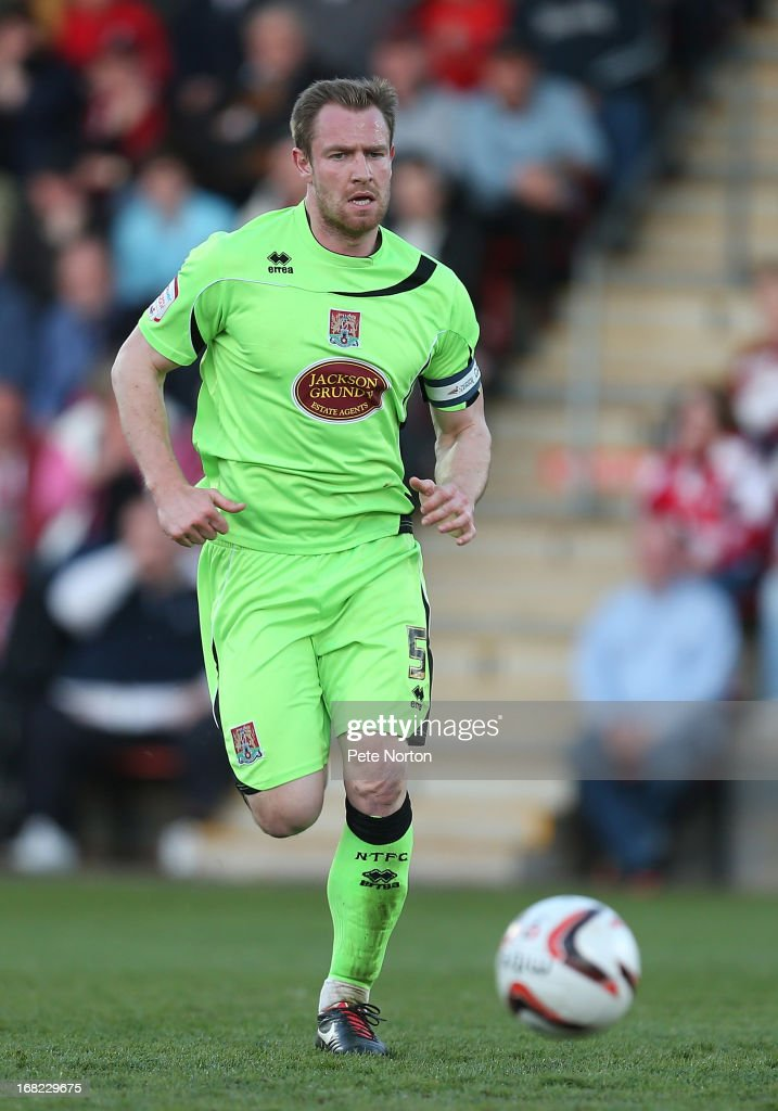 Kelvin Langmead of Northampton Town in action during the npower League Two Play Off Semi Final Second Leg between Cheltenham Town and Northampton Town at Abbey Business Stadium on May 5, 2013 in Cheltenham, England.