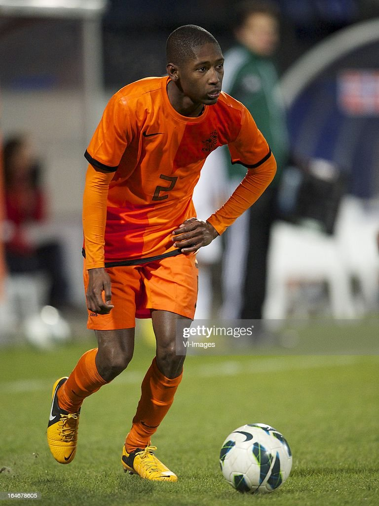 Kelvin Leerdam of Holland U21 during the friendly match between the Netherlands U21 and Norway U21 at the Mandemakers Stadium on march 25, 2013 in Waalwijk, The Netherlands
