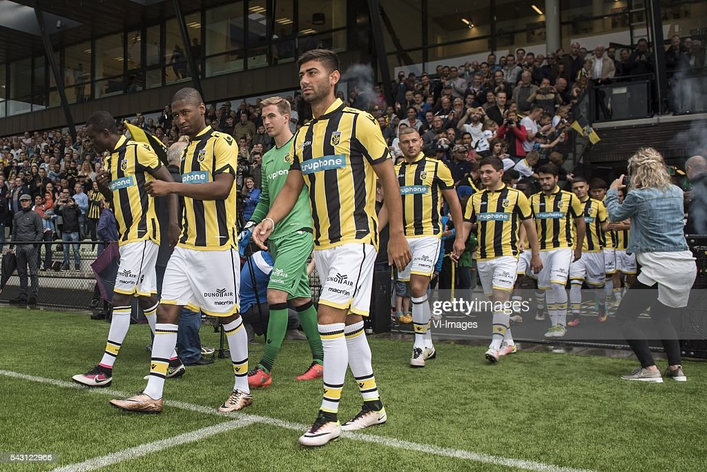 Kelvin Leerdam of Vitesse (m) enters the pitch for the first training of Vitesse during the first training session of the season 2016/2017 on June 26, 2016 at Papendal, The Netherlands