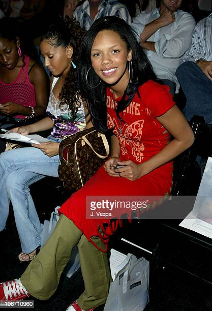 Kely Williams of 3LW during 2003 Smashbox Fashion Week Los Angeles John Sakalis Spring Collection 2004 Front Row and Audience at Smashbox Studios in...