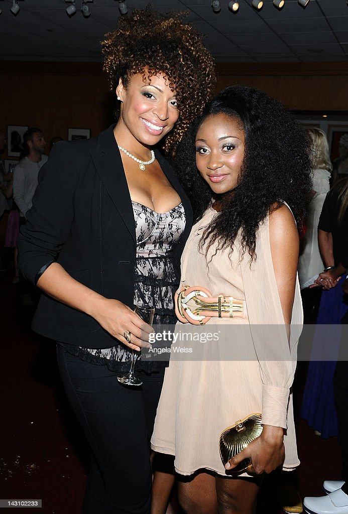 Kem Anyanwu and Mbong Amata attend the 'Black November' screening on April 18, 2012 in Beverly Hills, California.
