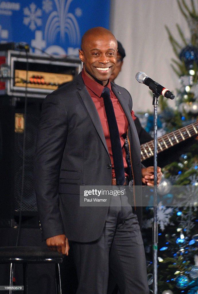 Kem attends Detroit's Christmas tree lighting ceremony at Campus Martius Park on November 16, 2012 in Detroit, Michigan.