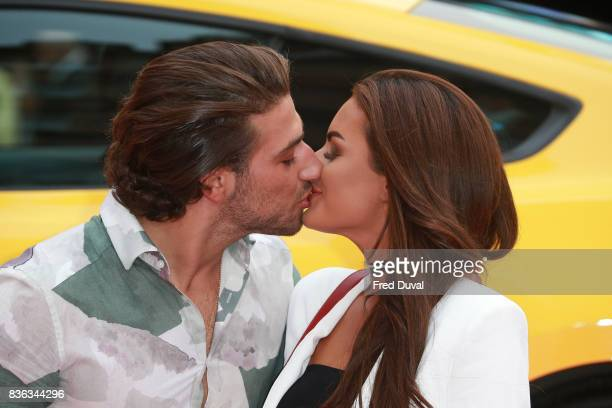 Kem Cetinay and Amber Davies arrive at the 'Logan Lucky' UK premiere held at Vue West End on August 21 2017 in London England