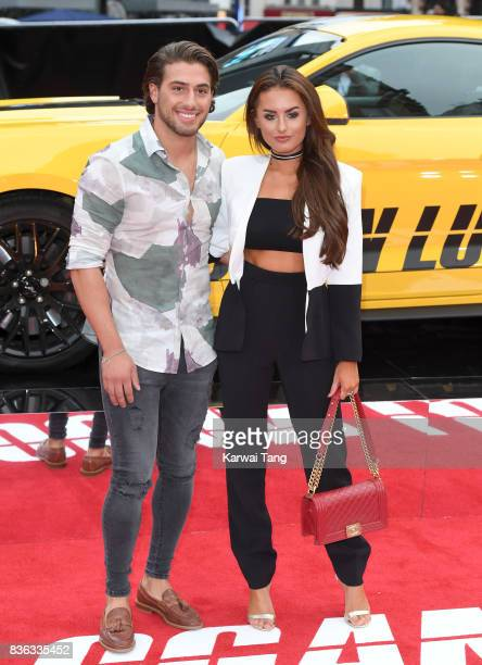 Kem Cetinay and Amber Davies attend the UK premiere of 'Logan Lucky' at the Vue West End on August 21 2017 in London England