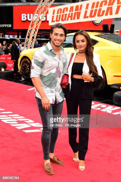 Kem Cetinay and Amber Davies attending the Logan Lucky UK Premiere held at Vue West End in Leicester Square London