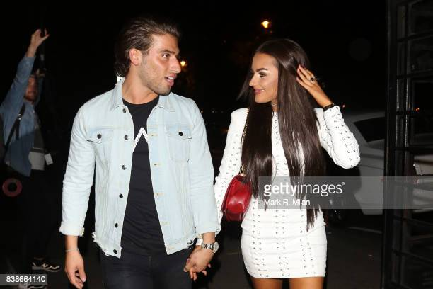 Kem Cetinay and Amber Davies atttending at the launch of the Kem Cetinay BoohooMAN collection at Opal on August 24 2017 in London England