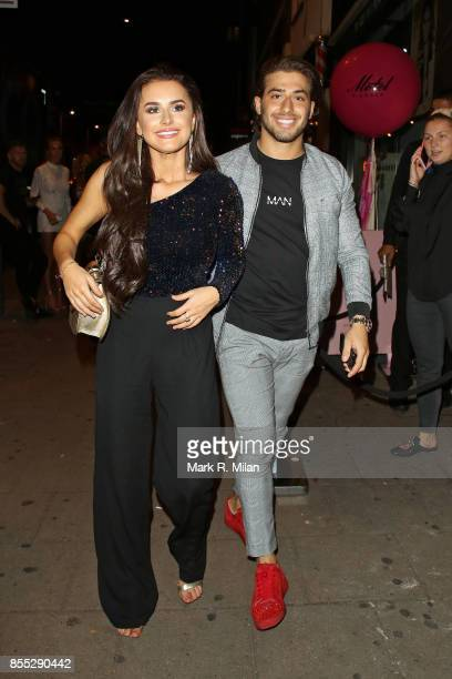 Kem Cetinay and Amber Davis attending the Motel x Amber Davis Collection Launch on September 28 2017 in London England