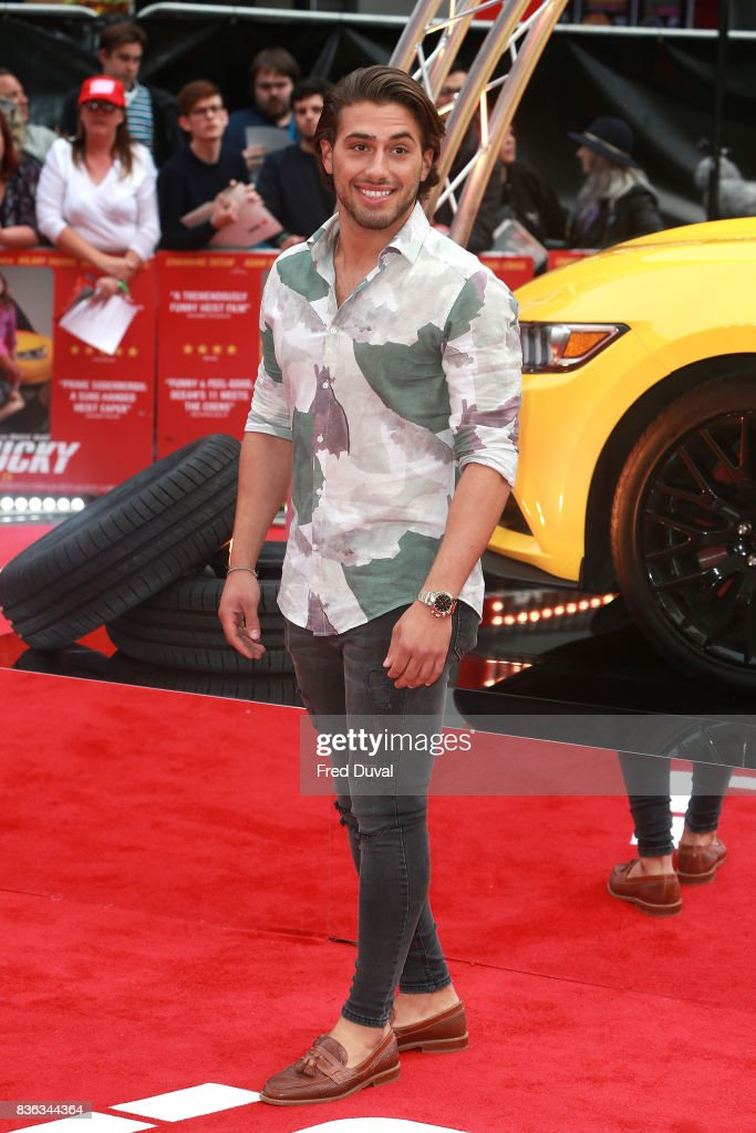 Kem Cetinay arrives at the 'Logan Lucky' UK premiere held at Vue West End on August 21, 2017 in London, England.