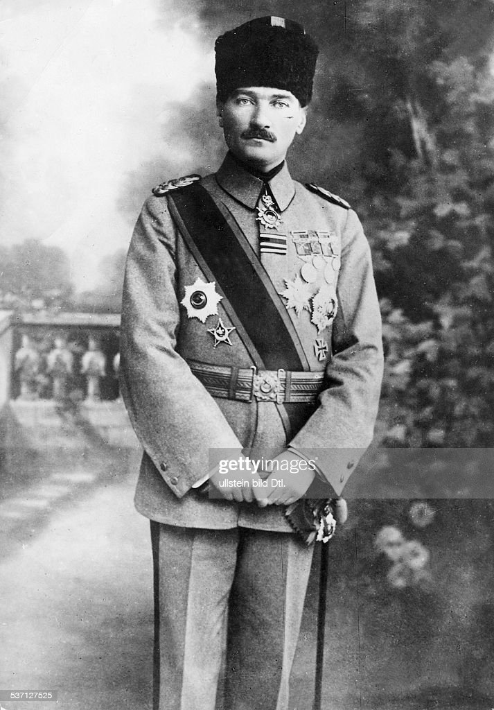 'Kemal Atatürk, Turkish politician, in uniform as the Supreme Commander of the Turkish Armed Forces - 1922