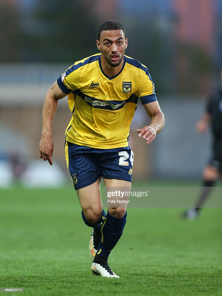 Kemar Roofe of Oxford United in action during the Sky Bet League Two match between Oxford United and Northampton Town at Kassam Stadium on April 14...