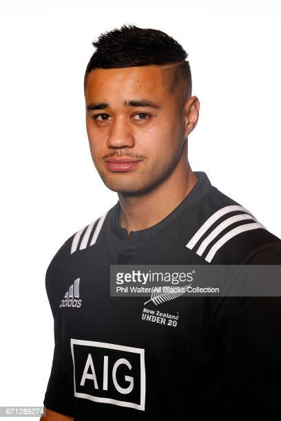 Kemarta HauitiParapara poses during the New Zealand U20 Headshots Session at Novotel Auckland Airport on April 22 2017 in Auckland New Zealand