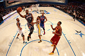 Kemba Walker of the Charlotte Bobcats and Team Shaq drives for a shot attempt during the BBVA Rising Stars Challenge part of the 2012 NBA AllStar...