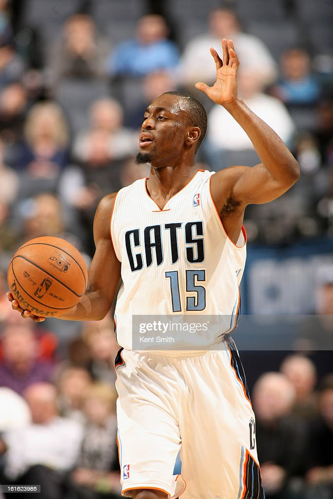 <a gi-track='captionPersonalityLinkClicked' href=/galleries/search?phrase=Kemba+Walker&family=editorial&specificpeople=5042442 ng-click='$event.stopPropagation()'>Kemba Walker</a> #15 of the Charlotte Bobcats brings the ball up court against the Utah Jazz at the Time Warner Cable Arena on January 9, 2013 in Charlotte, North Carolina.