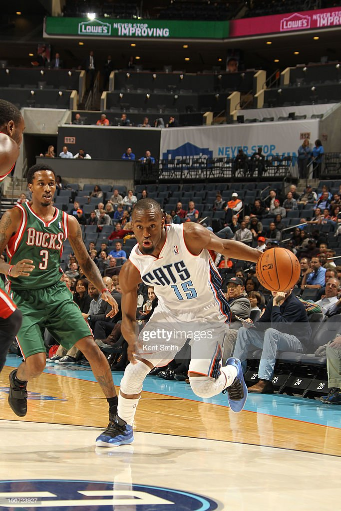 <a gi-track='captionPersonalityLinkClicked' href=/galleries/search?phrase=Kemba+Walker&family=editorial&specificpeople=5042442 ng-click='$event.stopPropagation()'>Kemba Walker</a> #15 of the Charlotte Bobcats drives against the Milwaukee Bucks at the Time Warner Cable Arena on November 19, 2012 in Charlotte, North Carolina.
