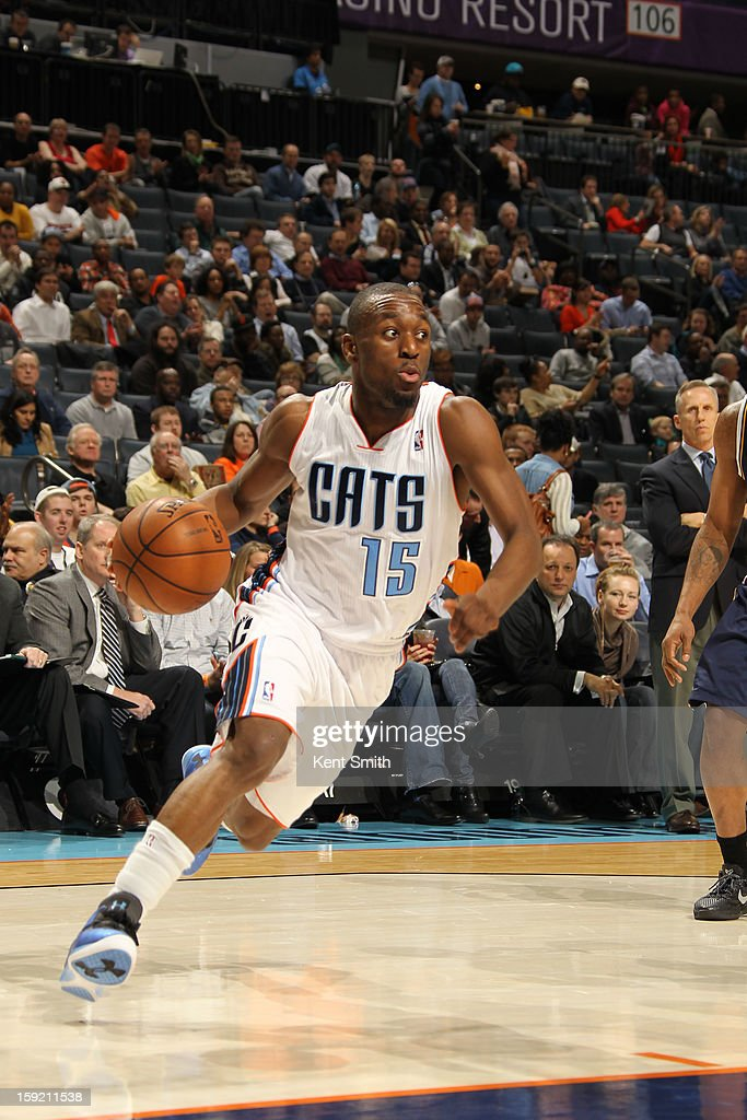 Kemba Walker #15 of the Charlotte Bobcats drives to the basket against the Utah Jazz at the Time Warner Cable Arena on January 9, 2013 in Charlotte, North Carolina.