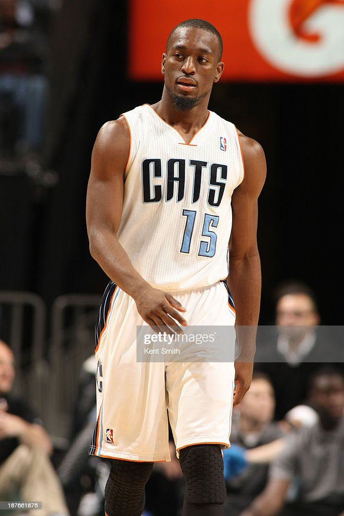 Kemba Walker #15 of the Charlotte Bobcats during the game against the New York Knicks at the Time Warner Cable Arena on November 8, 2013 in Charlotte, North Carolina.