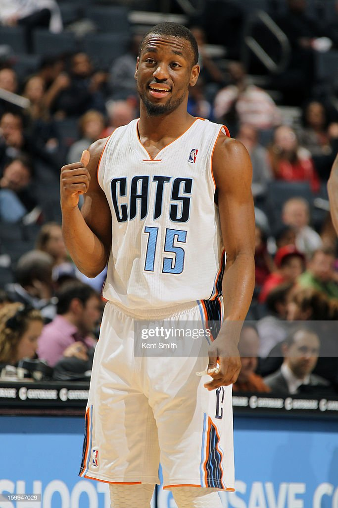 Kemba Walker #15 of the Charlotte Bobcats during the game against the Atlanta Hawks at the Time Warner Cable Arena on January 23, 2013 in Charlotte, North Carolina.