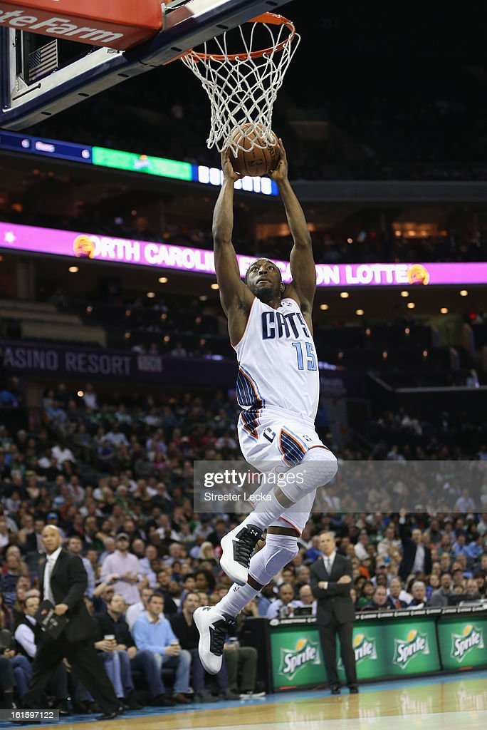 Kemba Walker #15 of the Charlotte Bobcats during their game at Time Warner Cable Arena on February 11, 2013 in Charlotte, North Carolina.