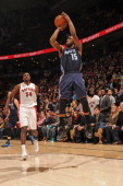 Kemba Walker of the Charlotte Bobcats hits a buzzer beater to beat the Toronto Raptors on December 18 2013 at the Air Canada Centre in Toronto...