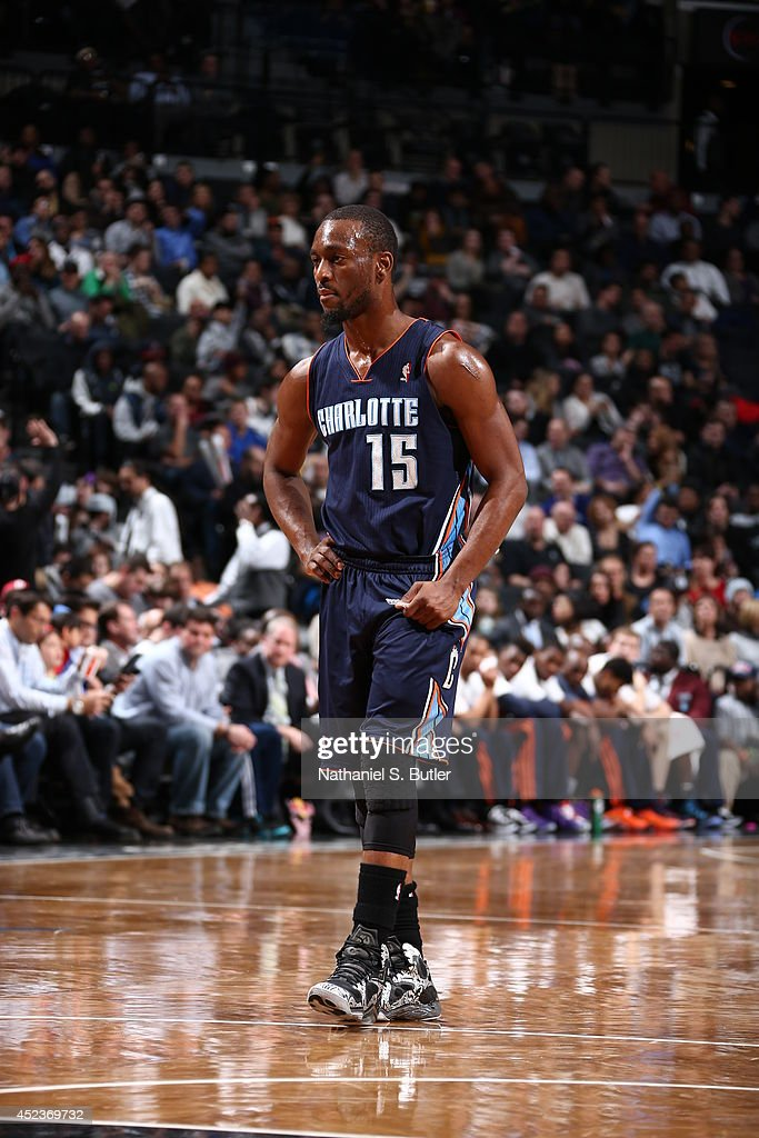 <a gi-track='captionPersonalityLinkClicked' href=/galleries/search?phrase=Kemba+Walker&family=editorial&specificpeople=5042442 ng-click='$event.stopPropagation()'>Kemba Walker</a> #15 of the Charlotte Bobcats looks on during the game against the Brooklyn Nets at the Barclays Center on February 12, 2014 in the Brooklyn borough of New York City.