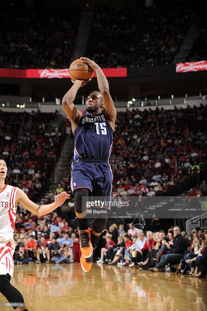 Kemba Walker #15 of the Charlotte Bobcats shoots against the Houston Rockets on February 2, 2013 at the Toyota Center in Houston, Texas.