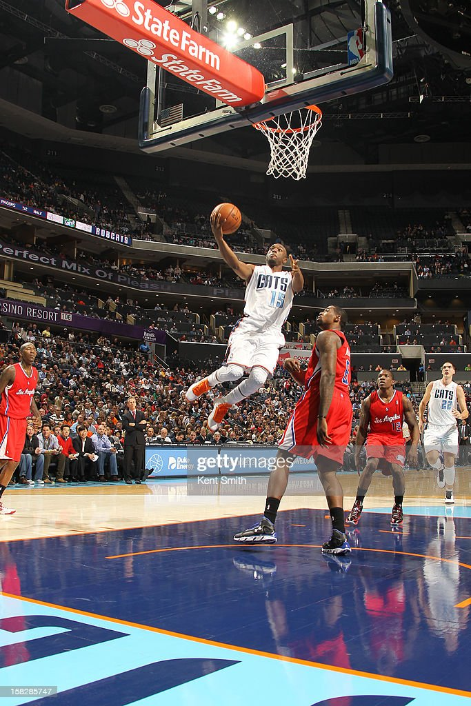 Kemba Walker #15 of the Charlotte Bobcats shoots against the Los Angeles Clippers at the Time Warner Cable Arena on December 12, 2012 in Charlotte, North Carolina.