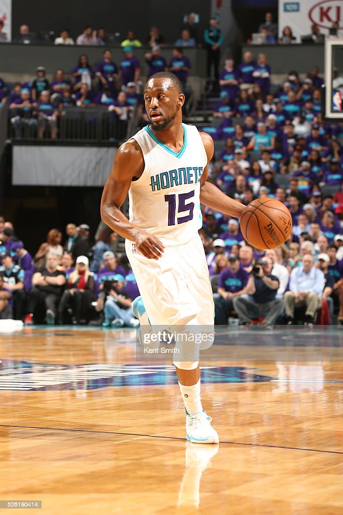 <a gi-track='captionPersonalityLinkClicked' href=/galleries/search?phrase=Kemba+Walker&family=editorial&specificpeople=5042442 ng-click='$event.stopPropagation()'>Kemba Walker</a> #15 of the Charlotte Hornets brings the ball up court against the Miami Heat in Game Six of the Eastern Conference Quarterfinals during the 2016 NBA Playoffs on April 29, 2016 at Time Warner Cable Arena in Charlotte, North Carolina.