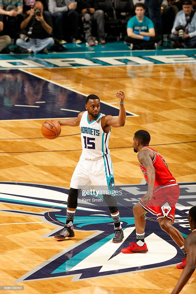 <a gi-track='captionPersonalityLinkClicked' href=/galleries/search?phrase=Kemba+Walker&family=editorial&specificpeople=5042442 ng-click='$event.stopPropagation()'>Kemba Walker</a> #15 of the Charlotte Hornets during the game against the Chicago Bulls at the Time Warner Cable Arena on February 06, 2016 in Charlotte, North Carolina.