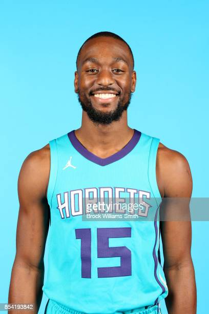 Kemba Walker of the Charlotte Hornets poses for a head shot during media day at Spectrum Center in Charlotte North Carolina NOTE TO USER User...